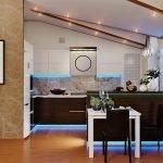 кухня с светодиодной подсветкой