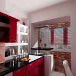 Кухня в хрущевке с балконом совмещение