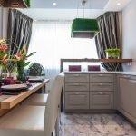 кухня в лиловых тонах