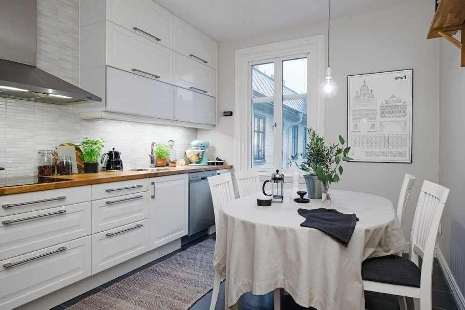 Отделка кухни в скандинавском стиле