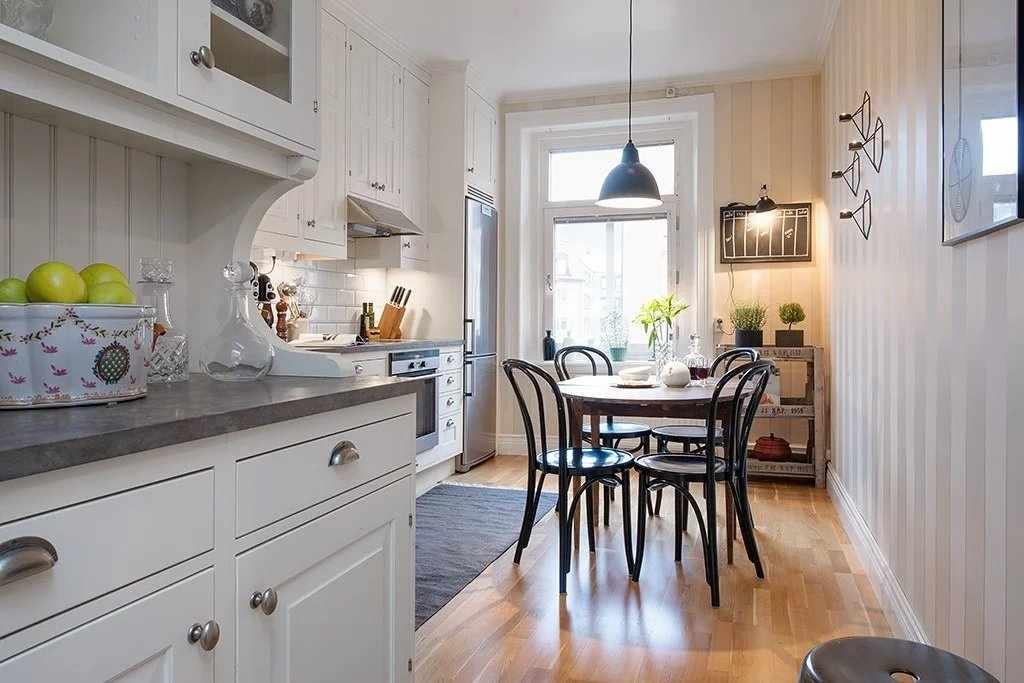 Декор на кухне в скандинавском стиле