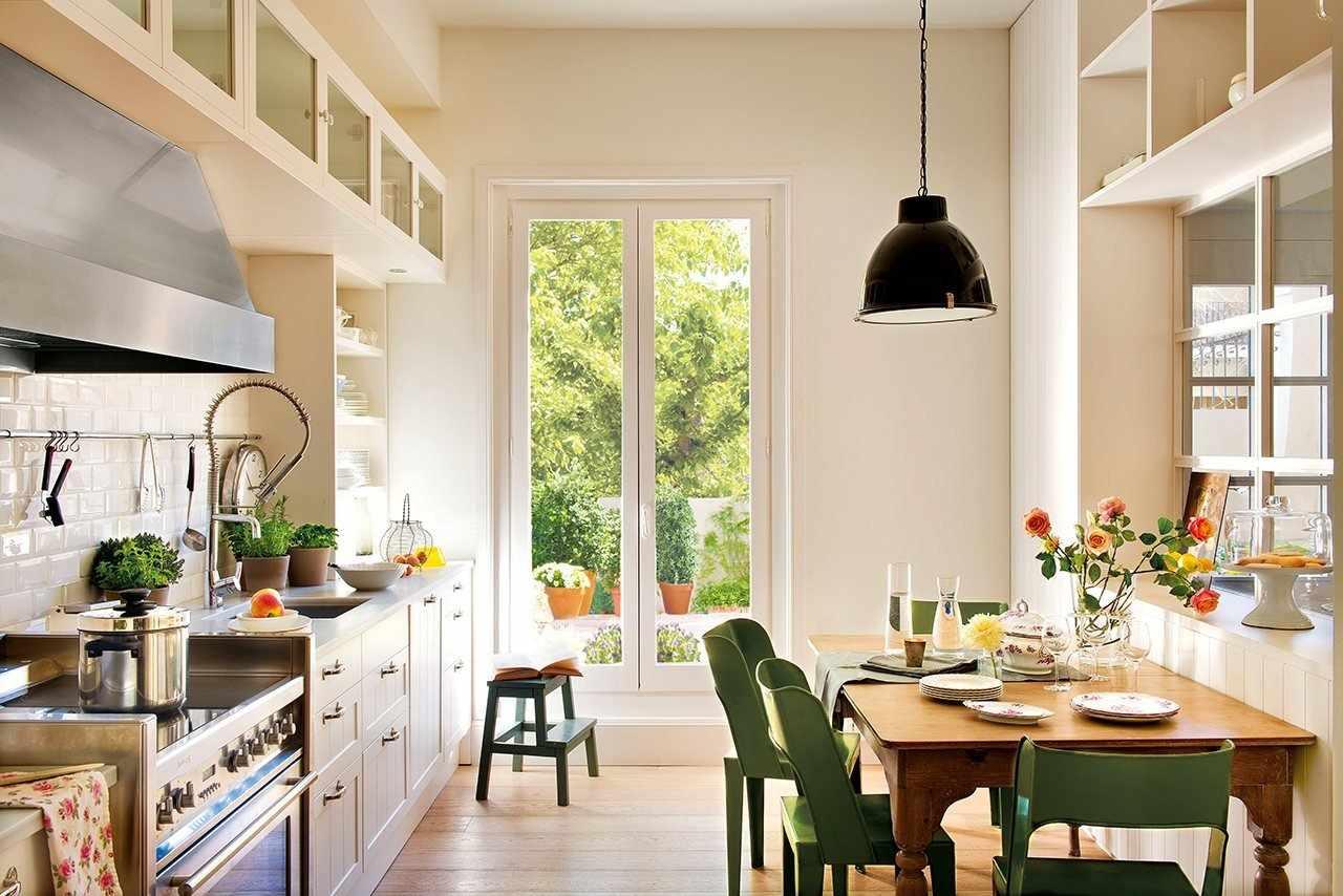 Кухня в скандинавском стиле в светлых тонах