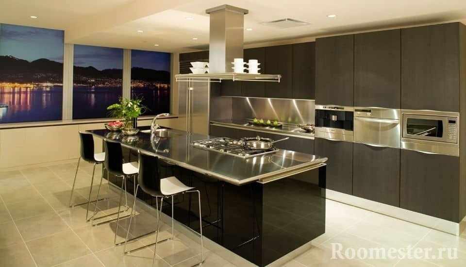 Декор кухни с помощью посуды