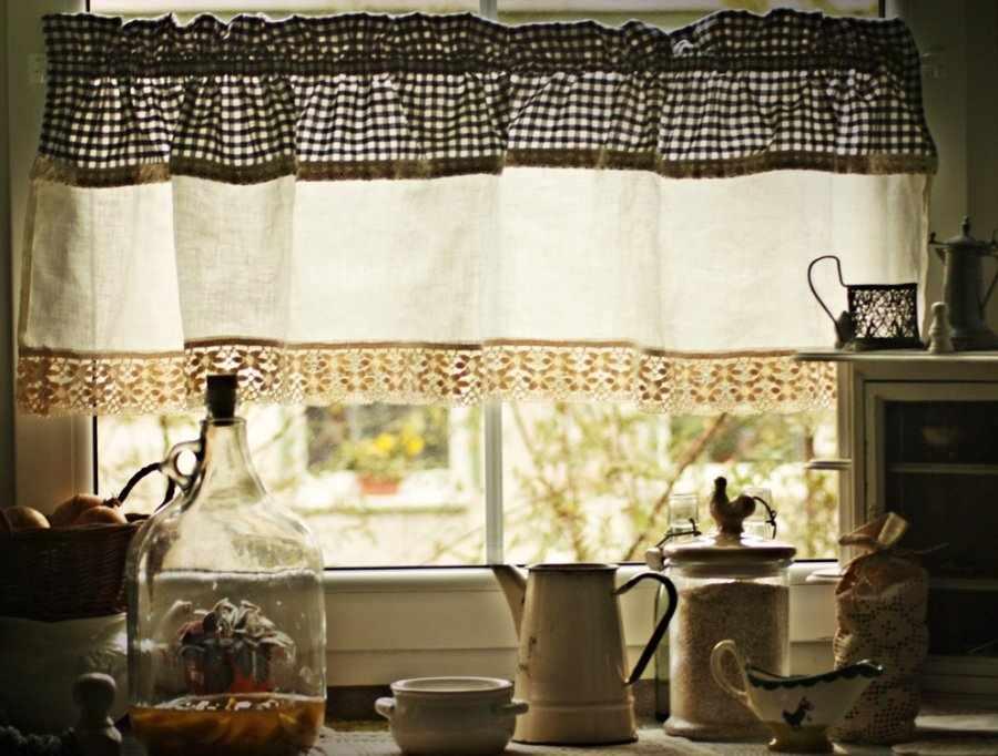 Текстиль на кухне в стиле кантри