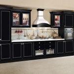 Черный фасад для кухни