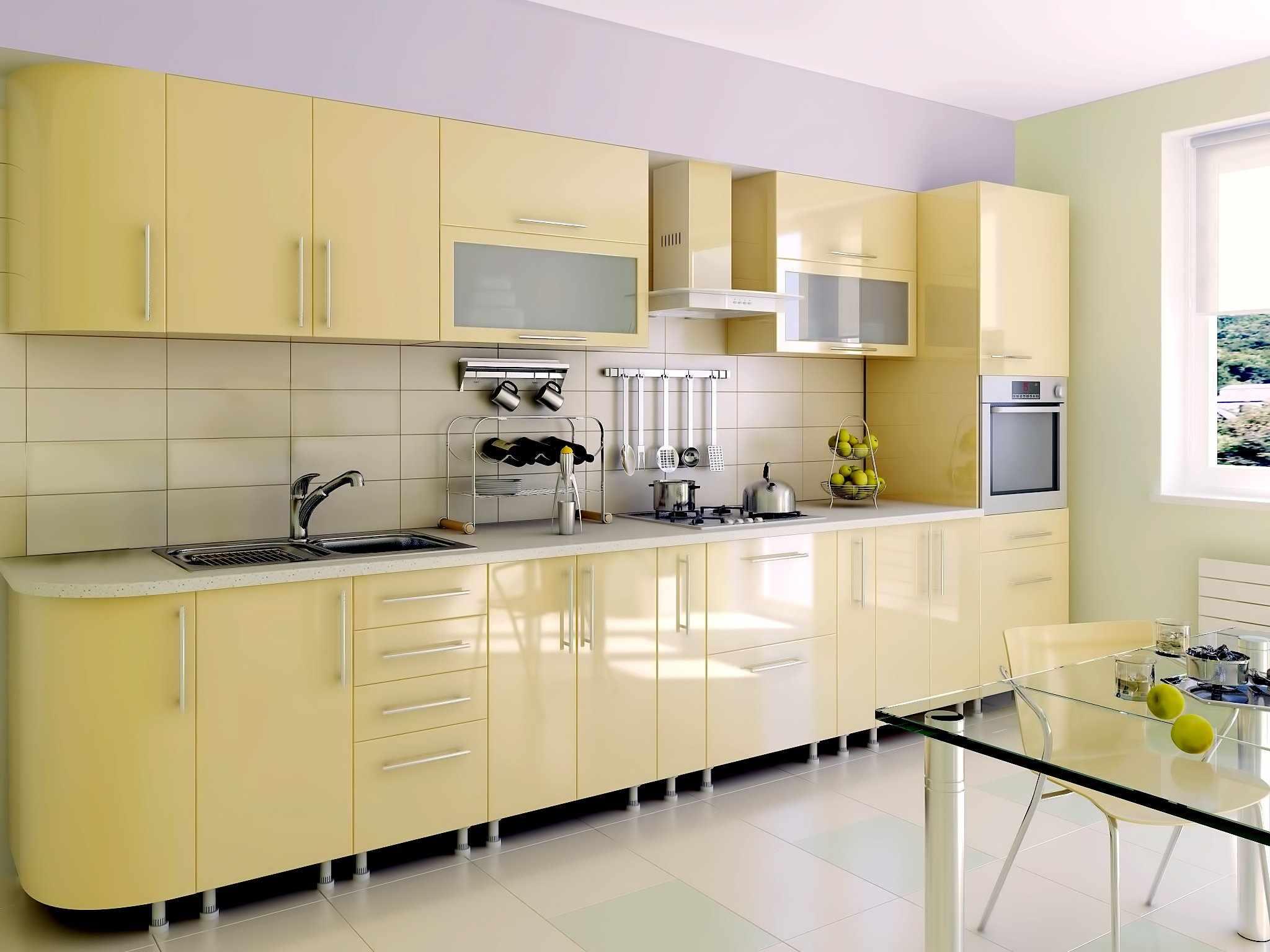 Фасады для кухни с покрытием ПВХ