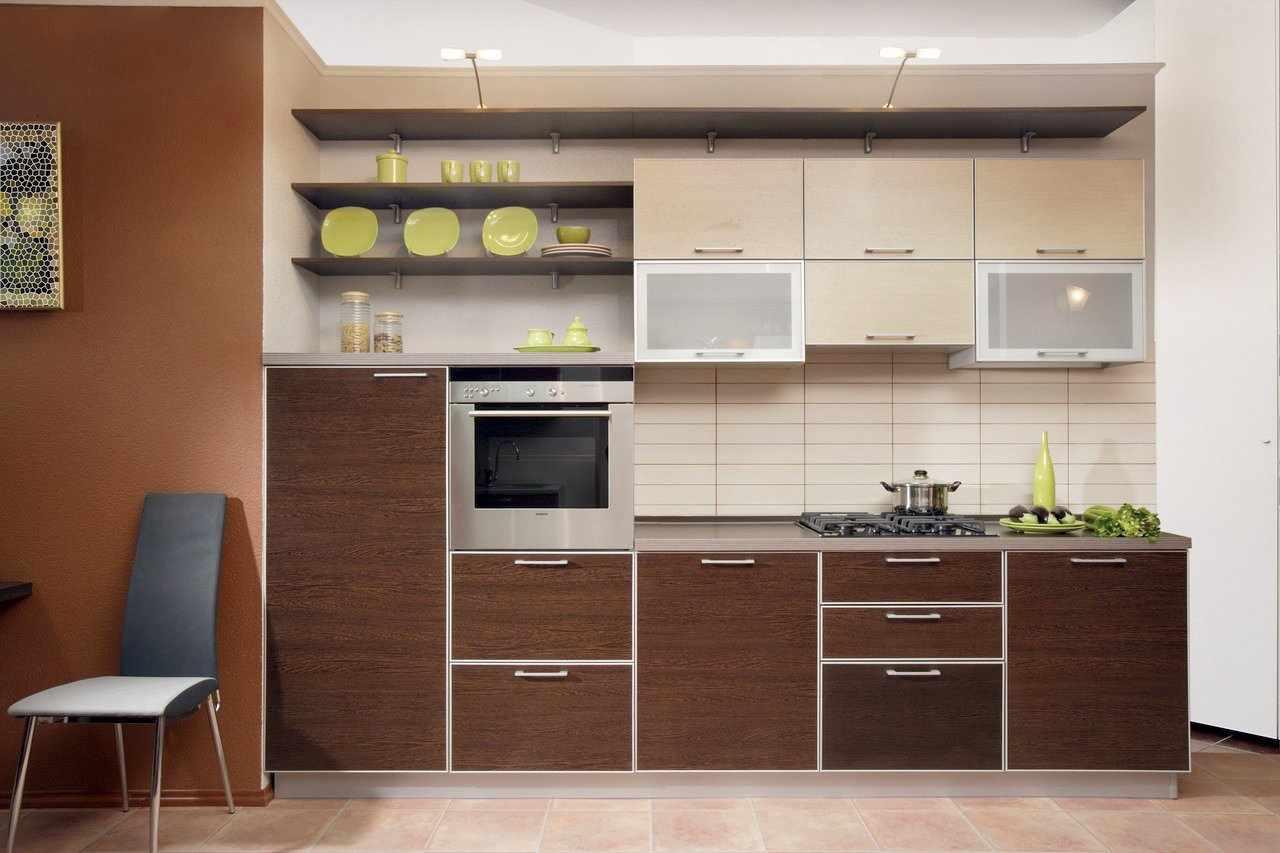 Кухня в коричневых тонах