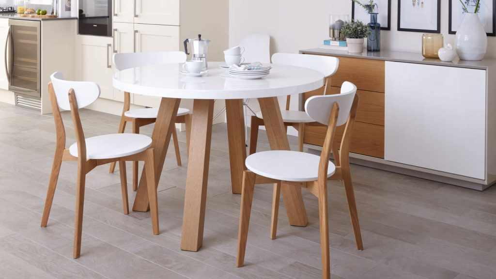 Круглый кухонный стол в интерьере