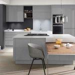 Серая мебель на кухне