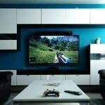 Полки и плазменный телевизор