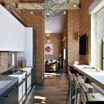 Отделка кухни в стиле лофт
