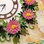 Цветы вокруг часов