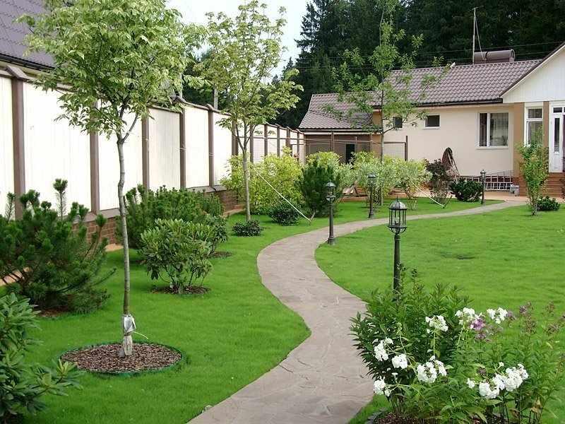 Уютный сад у дома