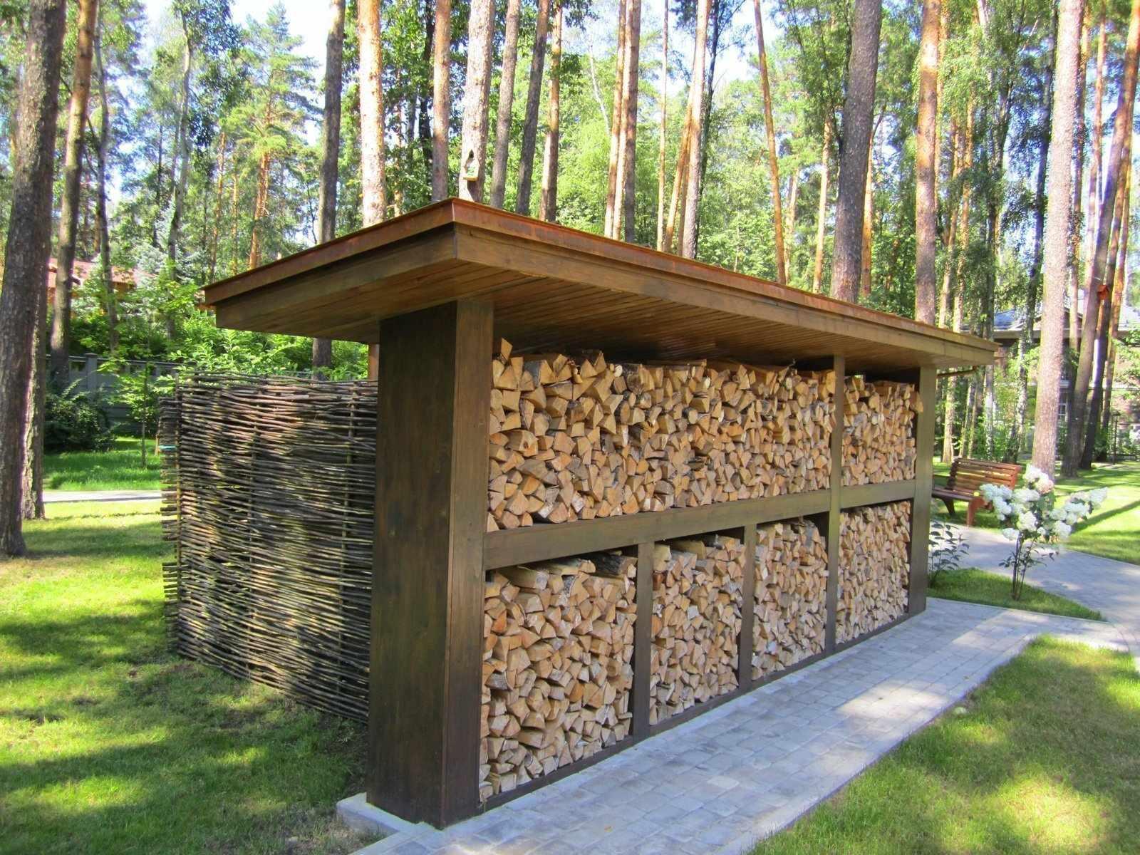 Хранение дров на участке