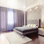 Красивые шторы в спальне