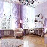 Сиреневый дизайн комнаты