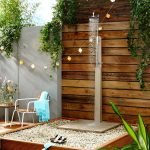 Садовый душ без стенок