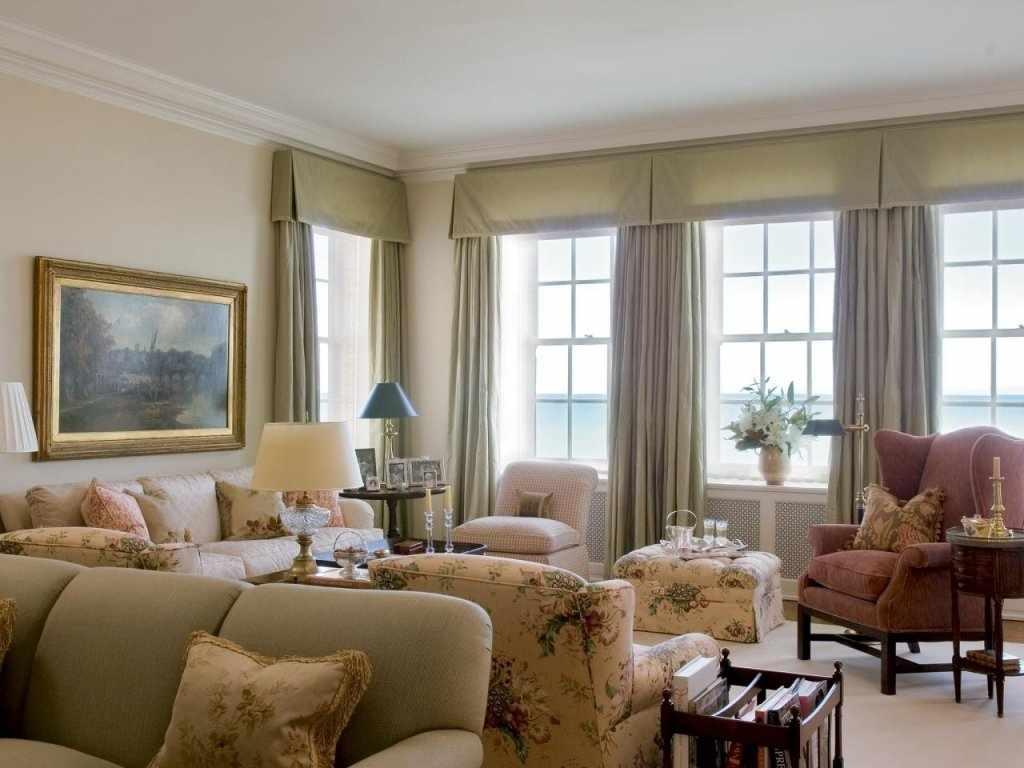 Льняные шторы для гостиной