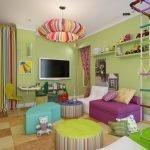 Красочная люстра для детской комнаты