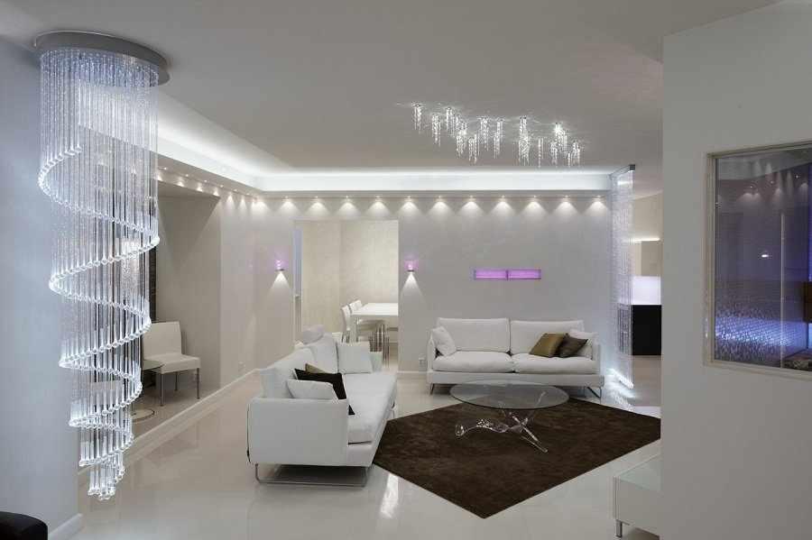 Освещение для белой комнаты