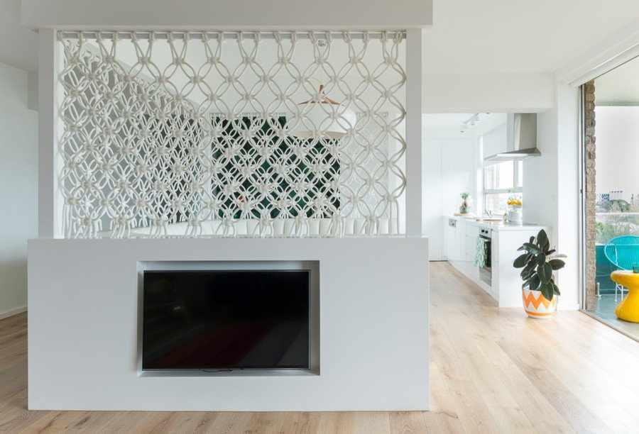 Макраме в интерьере в стиле минимализм