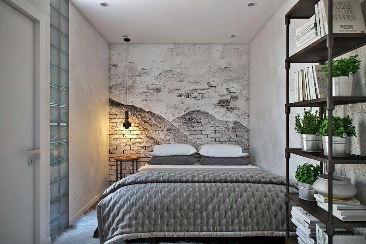 Лофт-стиль в спальне