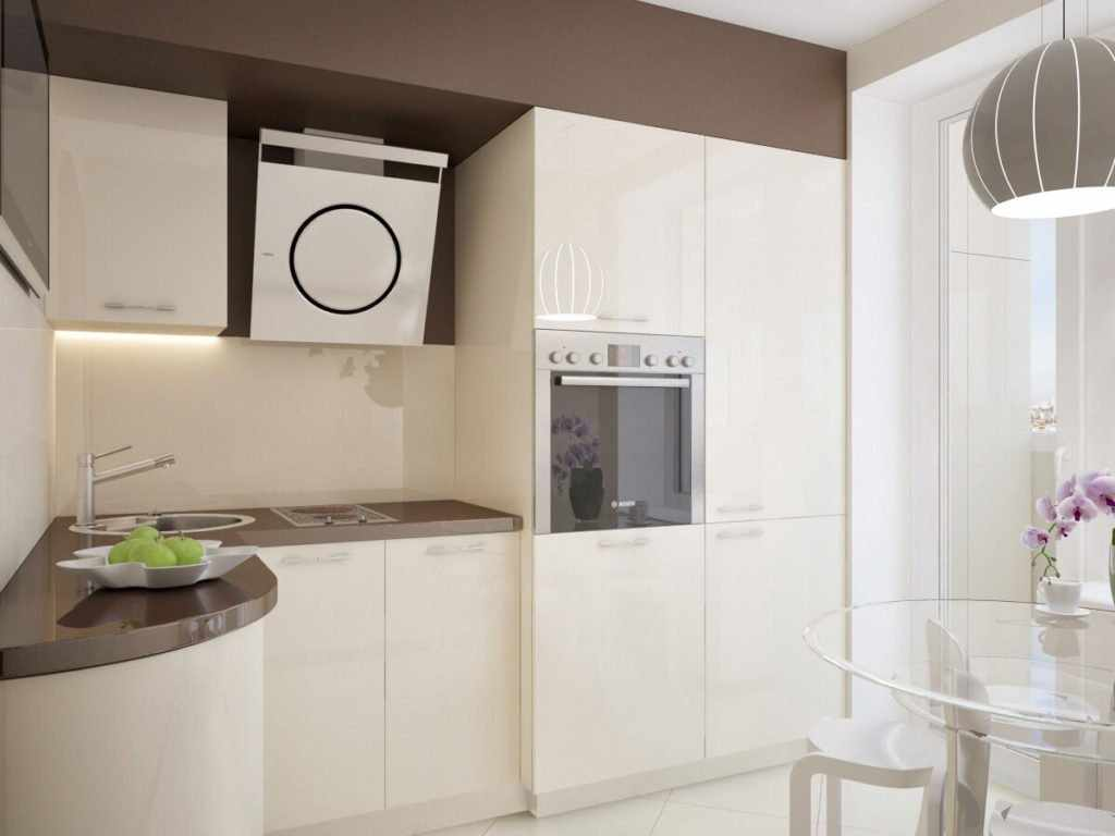 Светлая кухонная мебель