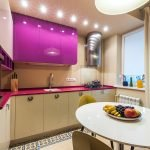 Длинная штора на кухне