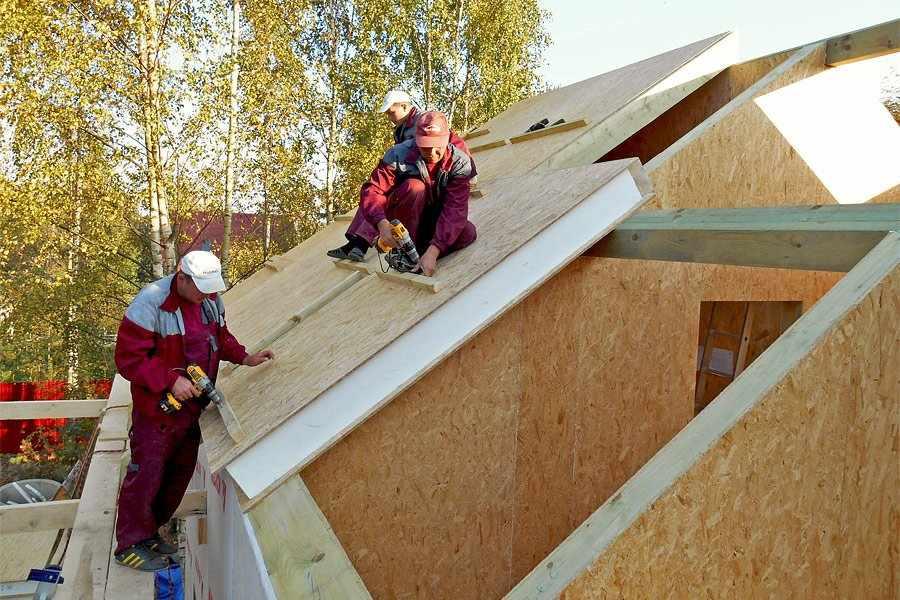 Крыша из СИП-панелей