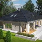 Дом с четырехскатной крышей
