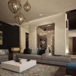Марокканский интерьер большой гостиной