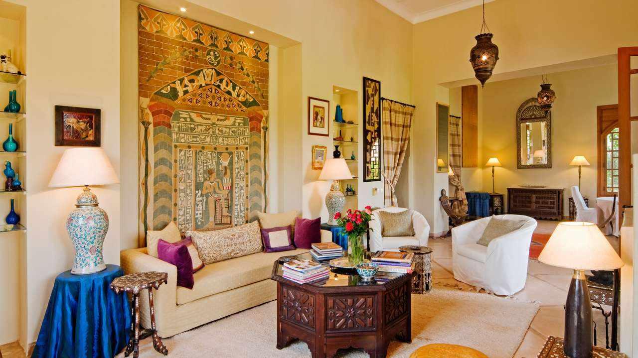 Марокканский стиль в интерьере гостиной