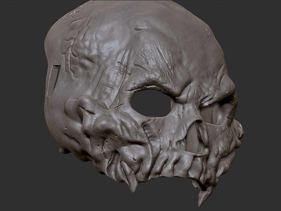 Маска на хэллоуин из гипса