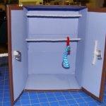 Шкаф с двумя планками для вешалок