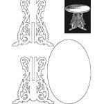 Стол из фанеры чертеж