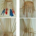 С помощью стакана плетем кресло