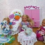 Вязанная мебель для кукол