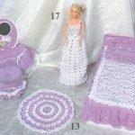 Кукольная вязанная мебель
