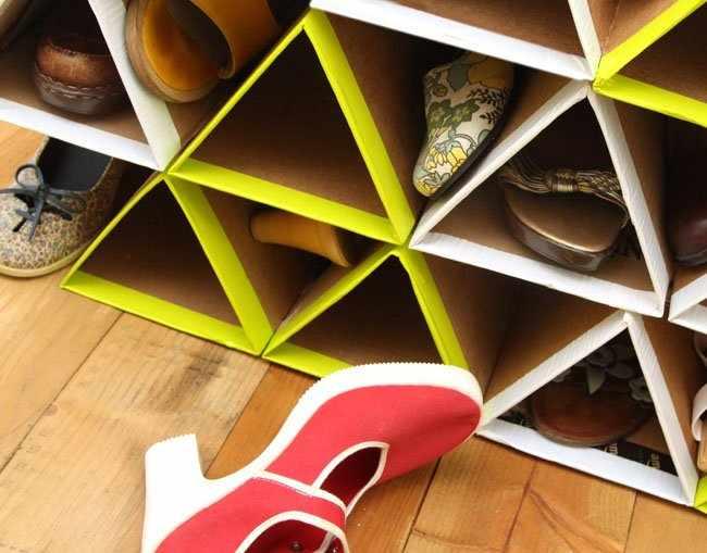 Обувница из картона