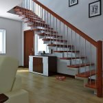 Лестница с одним косоуром из металла