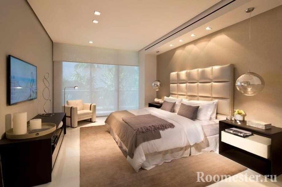 Спальня в минималистском стиле