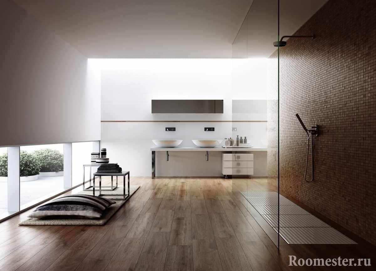 Ванная комната в минималистском стиле