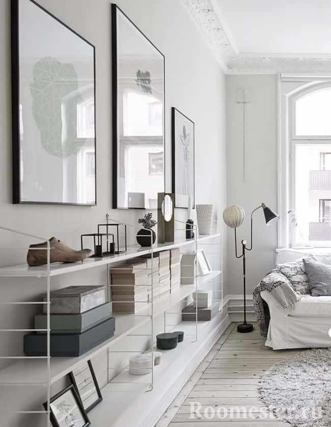 Простая мебель для гостиной