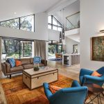 Синие кресла в гостиной