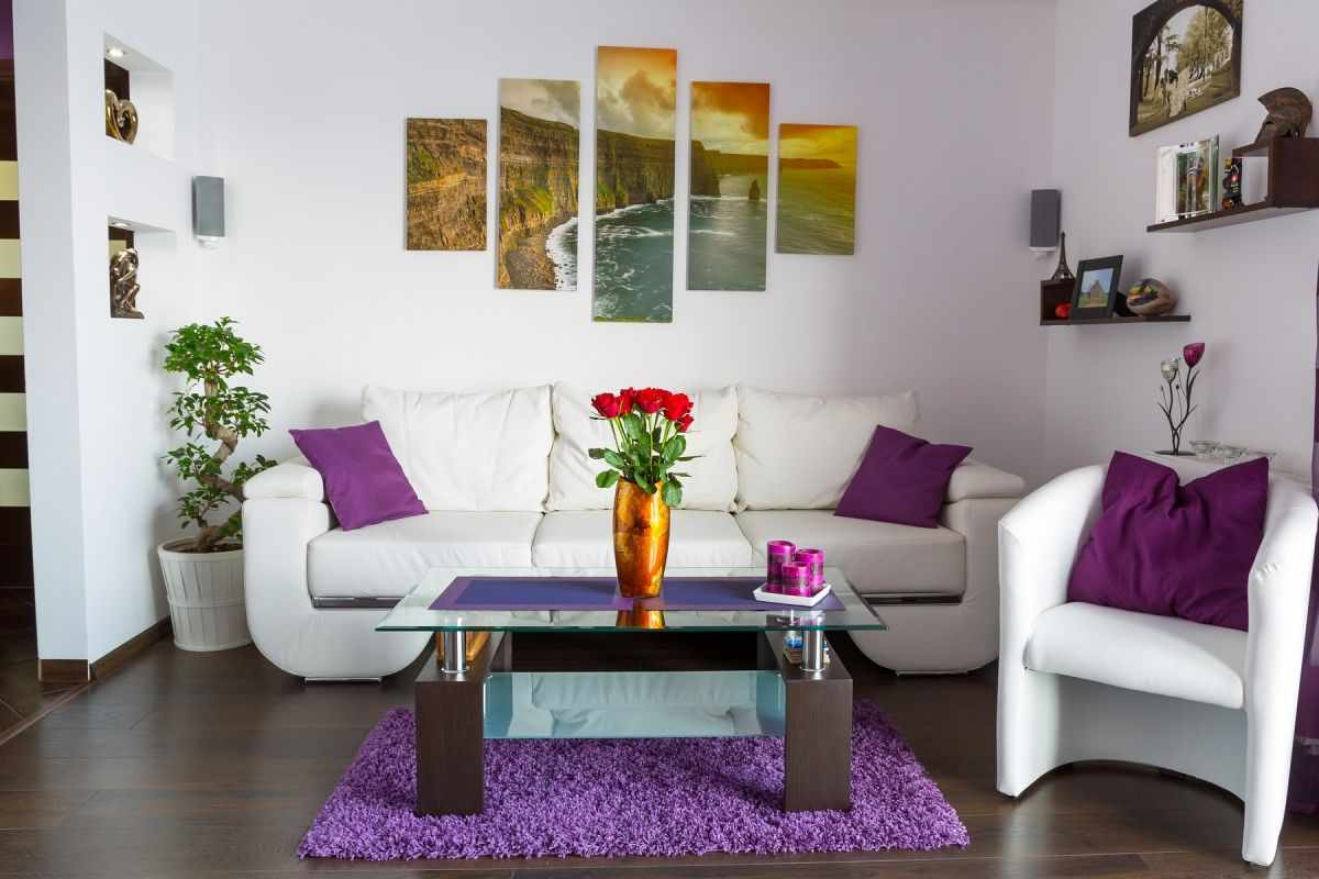 Модульная картина в гостиной