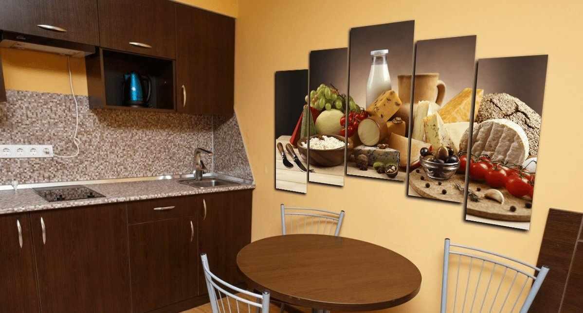 Модульная картина на кухне