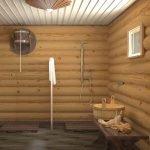 Кадка рядом с душем
