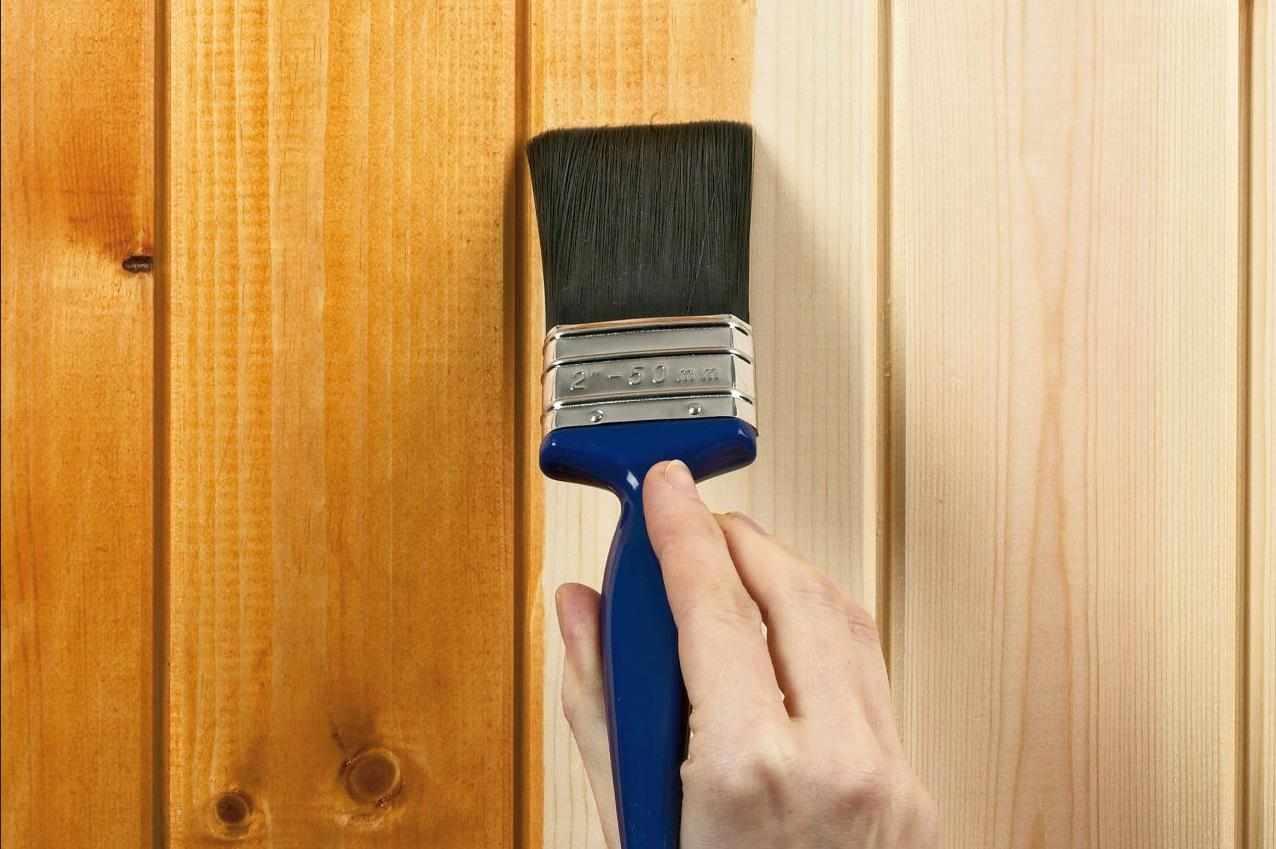 Тонирование древесины