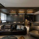 Комната с зонами гостиной и столовой
