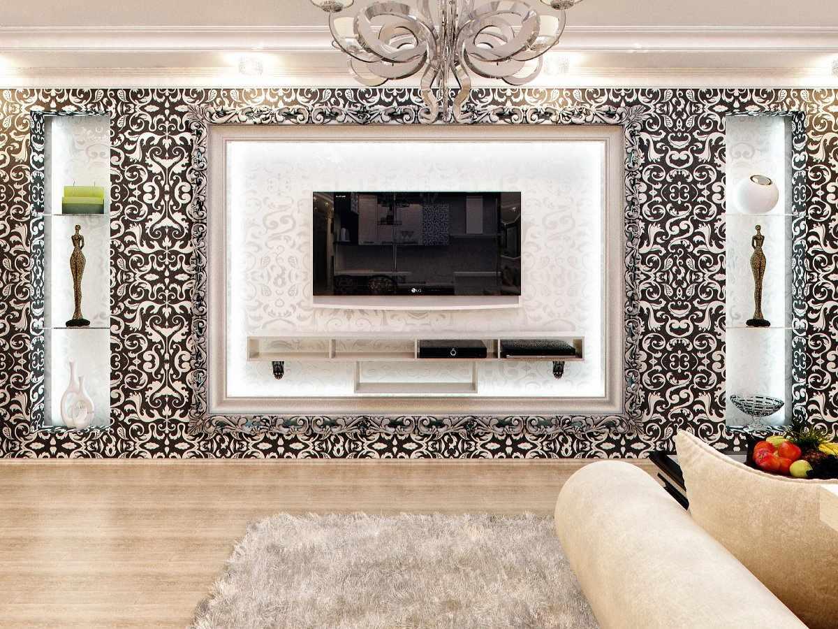 Телевизор на гипсокартонной стене